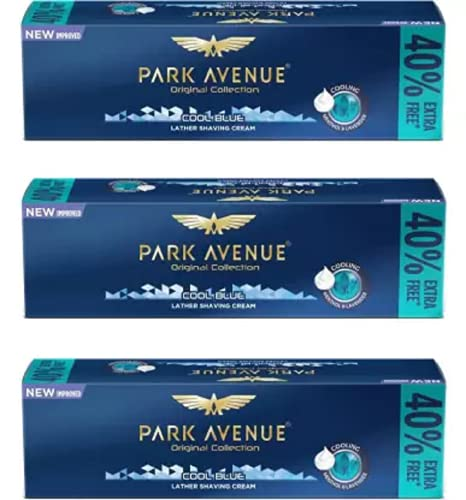 Park Avenue Cool Blue Shaving Cream Pack of 3 (84 g)