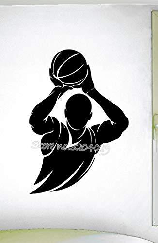 Calcomanía baloncesto tema niño baloncesto tiro pared pegatinas deportes tiro canasta papel pintado papel pintado niño dormitorio contorno fresco mural XCM