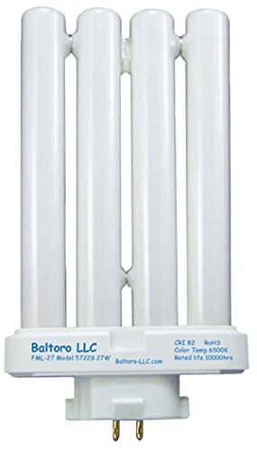 Baltoro FML27/50 27 Watt Linear Quad Compact Fluorescent (CFL) Replacement Bulb for Sunlight desk or floor lamps FML27/EX-D FML27EX/N by Baltoro LLC