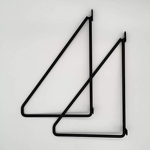 XJZKA Soportes para estantes Estantes flotantes de Metal Triángulo se Adapta a estantes de Madera estantería Estante de Almacenamiento de TV Montaje en Pared de Garaje Paqu