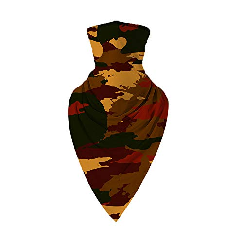 Julhold Men's multifunctional scarf, motorcycle face scarf, neck gaiter, bandana, neck scarf, tube scarf for nap scarf, biker, fishing, hiking - Yellow - Small