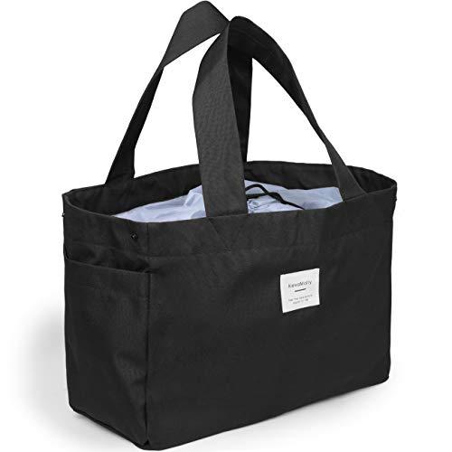 Burrki買い物バッグ レジカゴ 保冷トート 保冷トートバッグ ピクニック 大容量 折りたたみブラック