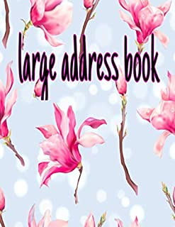 large address book: with tabs hardcover Internet Address & Password Logbook Makes is easy to Keep Track Phone Numbers, Addresses, Email ... With ... be a snap with this desk-sized address book!