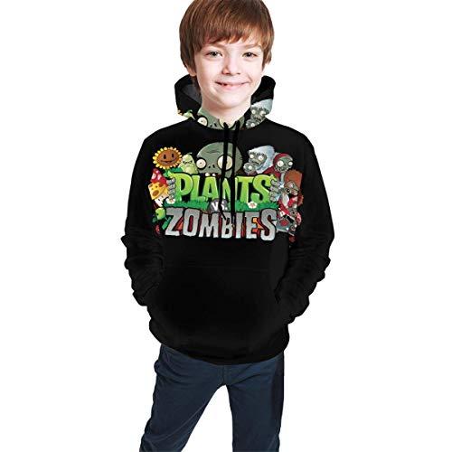 EYSKJ Hoodie Plants Vs. Zombies Kids Hooded Pocket Sweatshirt Teens Fashion Kapuzenpullover