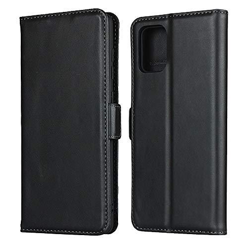 Caso de la cubierta del teléfono del soporte del folio magnetizado de la pendiente con la ranura para la tarjeta para Samsung Galaxy A71 4G, la caja de la cartera de cuero real de Agiotage, Funda para