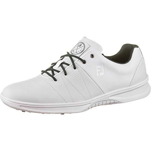 FootJoy Contour Casual, Zapatos de Golf Hombre, Blanco, 42.5 EU