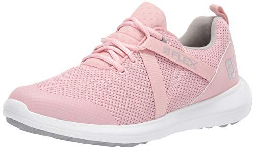 FootJoy Women's FJ Flex Previous Season Style Golf Shoes, Rose, 8 M US