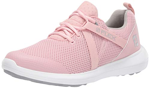 FootJoy womens Fj Flex Previous Season Style Golf Shoes, Rose, 9.5 US
