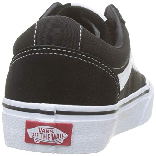Vans Damen Ward Suede/Canvas Sneaker, Schwarz Black/White Iju, 36 EU