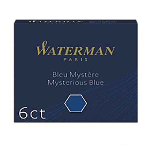 Waterman S0111000 cartucce di inchiostro corte blu mistero (confezione da 6)