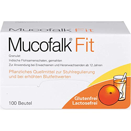 Mucofalk Fit Granulat zur Stuhlregulierung und bei erhöhten Blutfettwerten, 100 St. Beutel