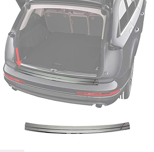 OMAC Fits Audi SQ7 Q7 2017-2021 Chrome Rear Bumper Guard Trunk Sill Protector Steel   Stainless Steel Chrome Sill Cover Trim Protector