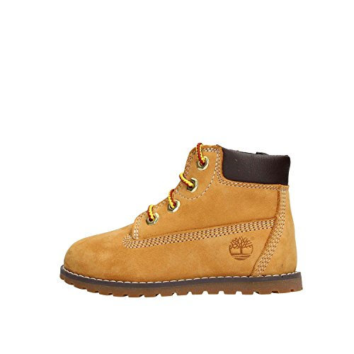 Timberland Unisex-Kinder Pokey Pine 6In Boot with Side Zip Kurzschaft Stiefel, Gelb (Wheat), 28 EU