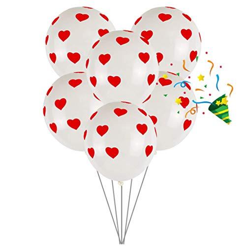 Globo de fiesta de Minasan grueso para celebración, boda, aniversario, cumpleaños, fiesta, Navidad, bolas de decoración talla única En blanco