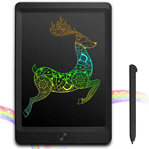 JOEAIS Bunte LCD Schreibtafel 8,5 Zoll Elektronische Writing Tablet mit Stift, Digitale Zeichenbrett mit Anti-Clearance Funktion, Malerei Graffiti Notizen Schreiben für Kinder (Schwarz)