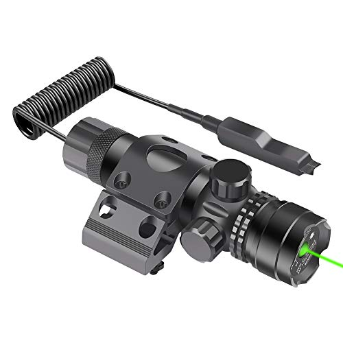 Feyachi GL6 Tactical Green Laser Sight with 45 Degree M61 Mlok Rail Mount and Pressure Switch
