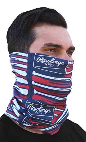 Rawlings Herren Head and Face Gear Gesicht-Abdeckung, Flaggen und Fledermäuse, One Size Fits Most