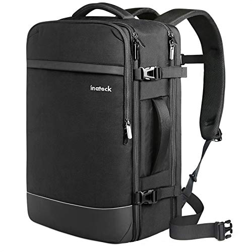 Inateck Travel Backpack 40-44L, Hand Luggage Aeroplane Backpack, Anti-Theft Men's Laptop Backpack for 15.6/17 / 17.3 Inch Laptops, Travel Carry On Backpack, Cabin Backpack Cabin Luggage