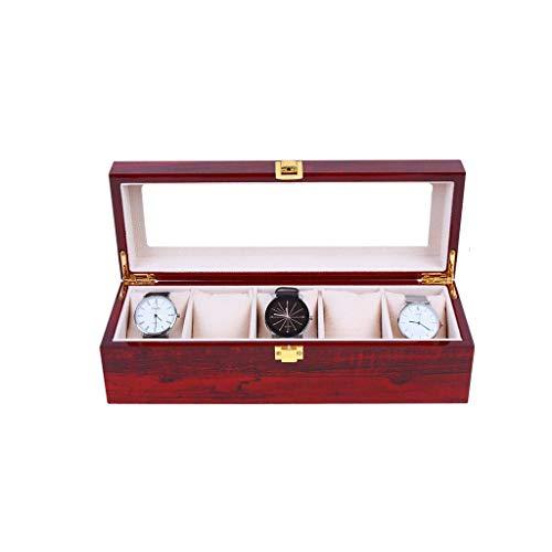 ZYING Las Ranuras de Reloj de Cuero Caja de Almacenamiento Organizador Nueva mecánica del Reloj for Hombre de la exhibición los Negro Cajas de Regalo de iPhone