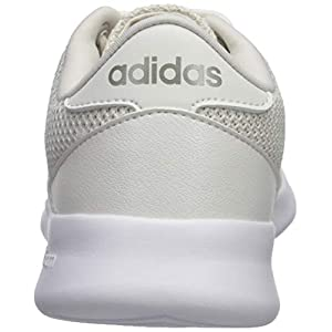 adidas Women's Cloudfoam Qt Racer Track and Field Shoe, Cloud White/Platino met./ raw White, 7.5 Standard US Width US