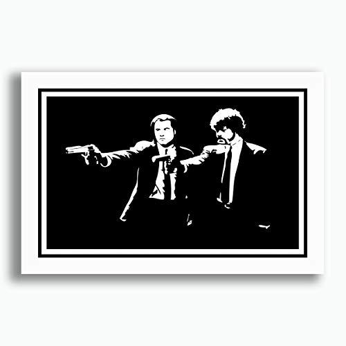 Quadro Pulp Fiction 60x40cm Filme Tarantino Cinema Decoracao Quarto Sala Copa Cozinha Loja Escritorio Pronto para Pendurar