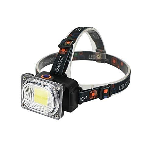 JSJJAET Lámpara de Cabeza Portátil Mini COB LED Faro USB Faro de Carga Lámpara de Cabeza a Prueba de Agua Lámpara de Trabajo Linterna Linterna para Acampar headlamp