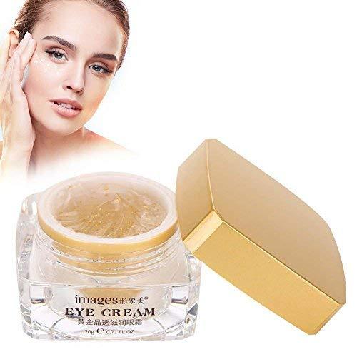 Crème pour les yeux anti-âge Gold infusée - Raffermissement instantané et réduction à long terme des rides, des sacs, des gonflements, des cernes et des graisses naturelles