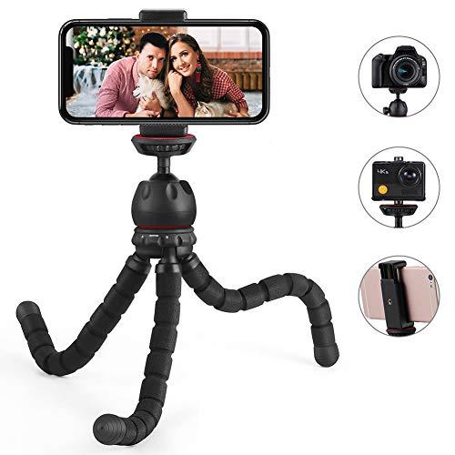 Handy Stativ, ESDDI Oktopus Tripod Dreibein Mini-Stativ, Kamera-Stativ Ständer Halter für Kamera und jedes Smartphone inklusive Handyhalterung, Geeignet für Live-Streaming und Videokonferenzen, usw.