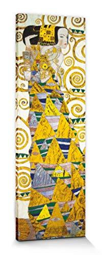 1art1 Gustav Klimt - Die Erwartung, 1905-1909 (Detail) Bilder Leinwand-Bild Auf Keilrahmen | XXL-Wandbild Poster Kunstdruck Als Leinwandbild 150 x 50 cm