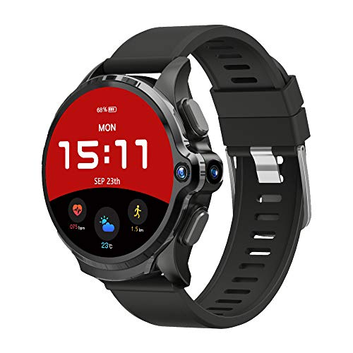 """KOSPET Android Smart Watch for Men, Face Unlock Phone Watch with 1.6"""" Full Touch Screen, 4G LTE Smartwatch with 1260mAh Battery, GPS Sport Watch with Heart Rate Monitor & Dual Camera, 3G RAM+32G ROM"""