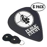 パブリックエネミー Public Enemy ギターピック 6枚/セット ウクレレ エレキギター 3種厚さ プリントデザイン 大活躍 スペシャル バリ無し 尖らず