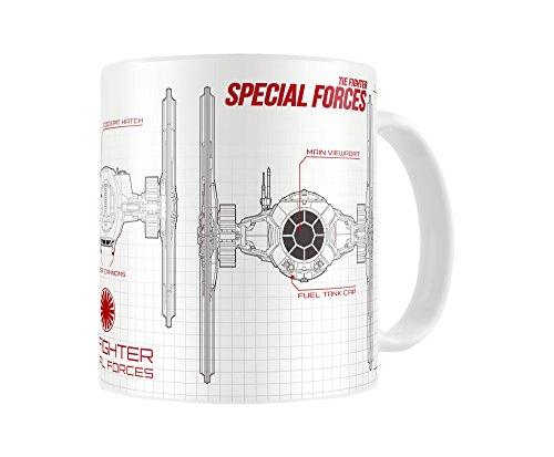 SD Toys SDTSDT89005 Tasse en céramique Star Wars épisode 7 Special Forces Blanc/Rouge