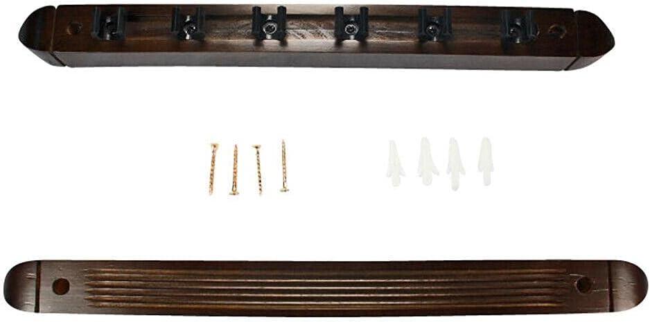 MRCH Fashion Pool Cue Wall Rack - Holder Billiards 6 T Luxury Stick Wood
