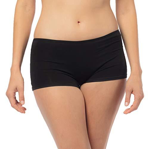 Libella® Panties Damen (6er-Pack) Boxershorts Unterhose Unterwäsche Set Baumwolle 3901 Schwarz L