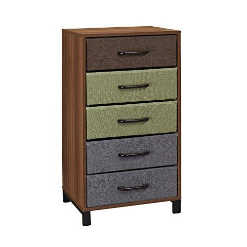 Household Essentials 8035-1 Kommode aus Holz mit 5 Schubladen, Nachttisch, Honig-Ahorn