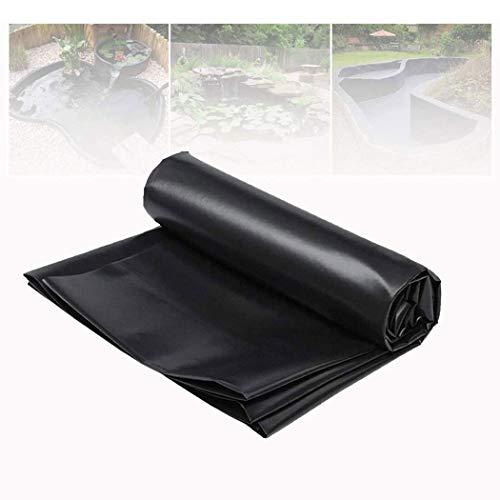 Teichfolien Zuschnitt PVC 7x10m 8x10m Schwarz HDPE Stärke Teichfolie für Gartenteich UV-Beständig Reißfest Umweltfreundlich Schwimmteich Folie Gartenteich Teichpl(Size:10x10M(32.8x32.8ft),Color:0.4mm)