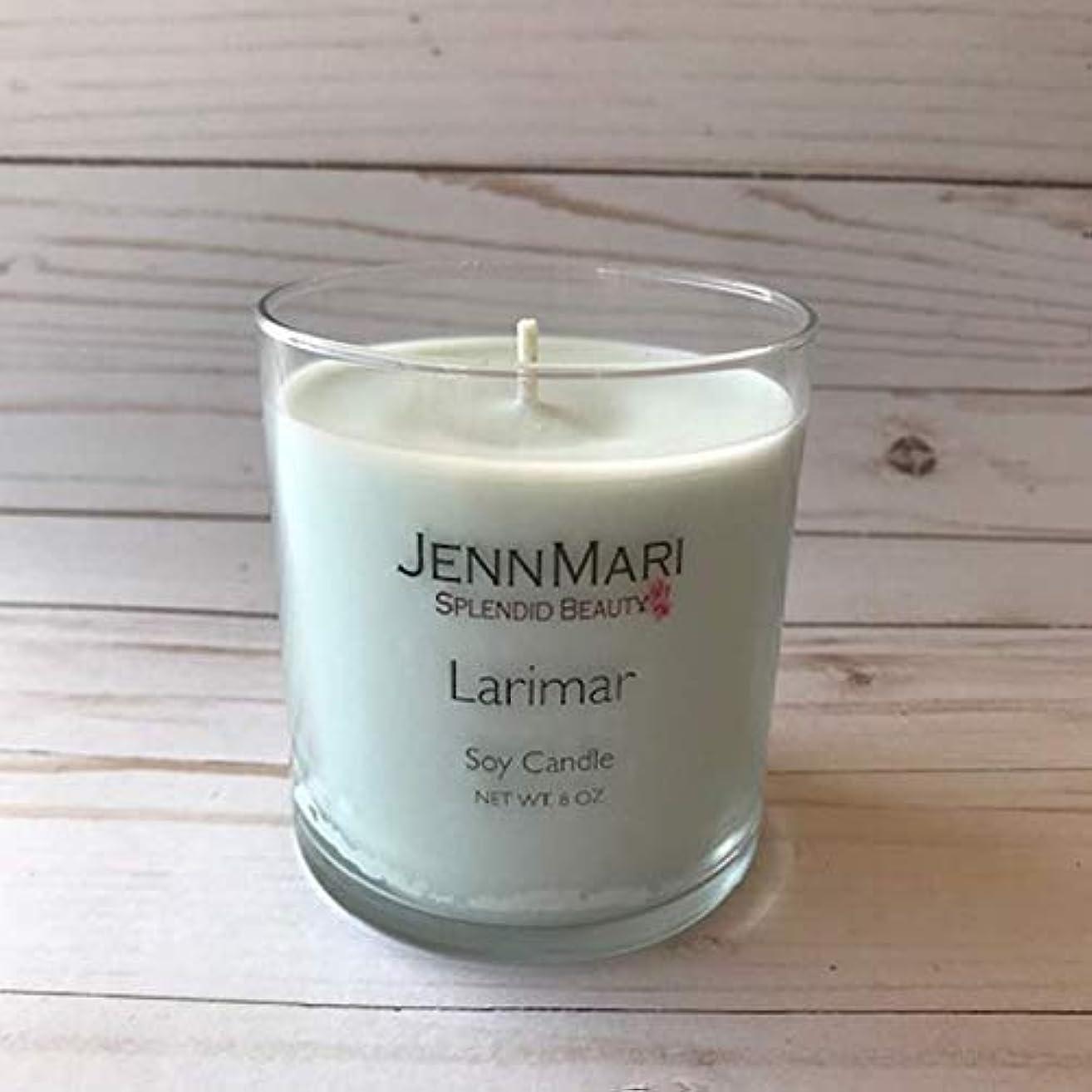 Splendid Beauty   Larimar Scented Soy Candle Glass Jar   10 Oz   Handmade   Eco-friendly   Vegan   Cotton Wick   100% Soy Wax