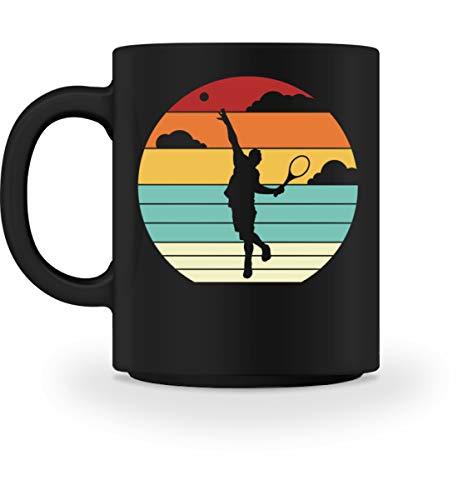 Generisch Tennisspieler Retro Tasse   Tennis Auschlag Spieler Vintage Kaffeetasse