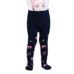 Bonjour Unisex Cotton Barbie Tights (Navy-Pink, 1-2 Years)