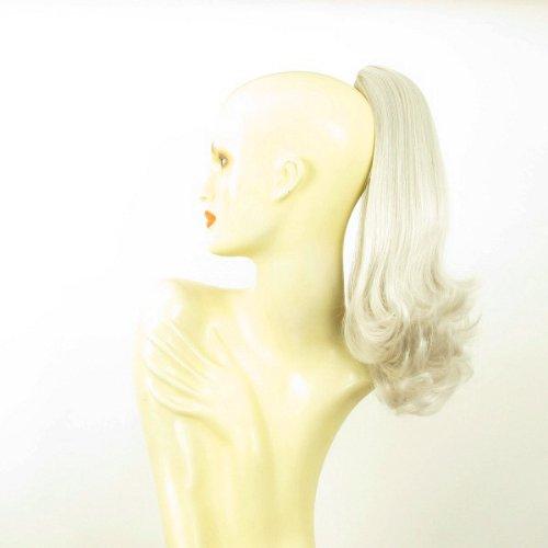 Postiche queue de cheval extension femme blanche mi-longue 40 cm ref 8 en 60