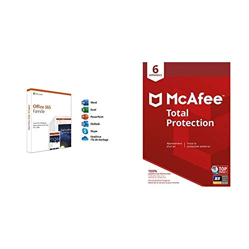 Microsoft Office 365 Famille + McAfee Total Protection 6 Appareils