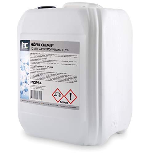 Höfer Chemie 10 L Wasserstoffperoxid 11,9% H2O2 - technische Qualität - im 10 L Kanister