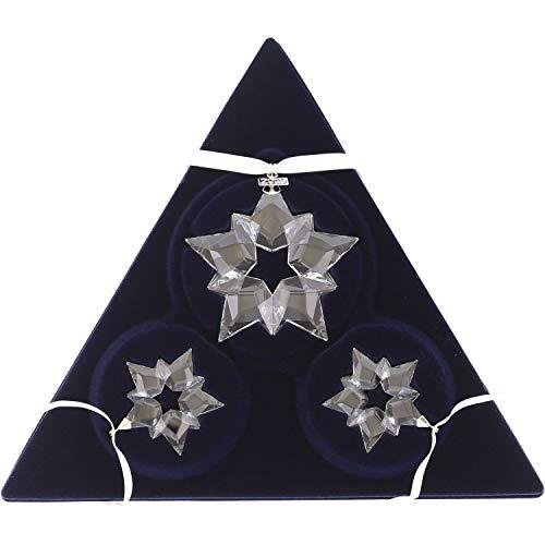 Swarovski - Set di decorazioni natalizie con cristalli, colore: Bianco