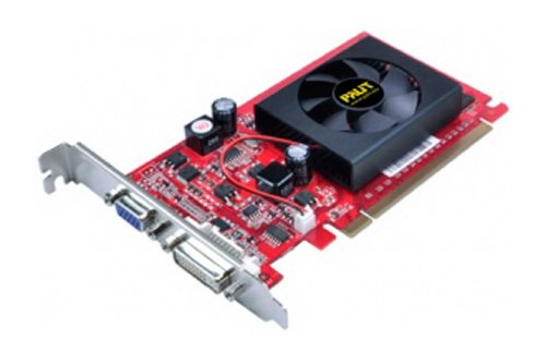 Palit NVIDIA GeForce GF 210–Tarjeta gráfica (PCI-E, 512MB, Memoria DDR 2, DVI)