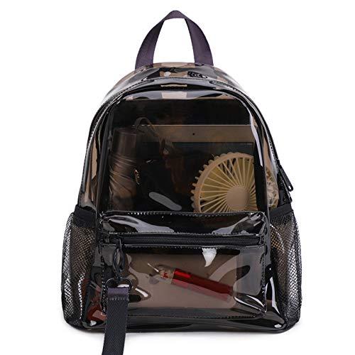 PVC transparenter Rucksack, klare Schultasche Wasserdichter lässiger Rucksack Strandtasche Tagesrucksack für Schulreisen