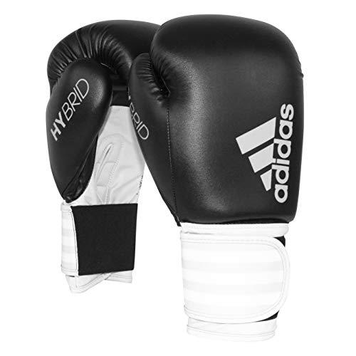 adidas Women's Hybrid 100 Black/White Boxing Gloves - 8oz