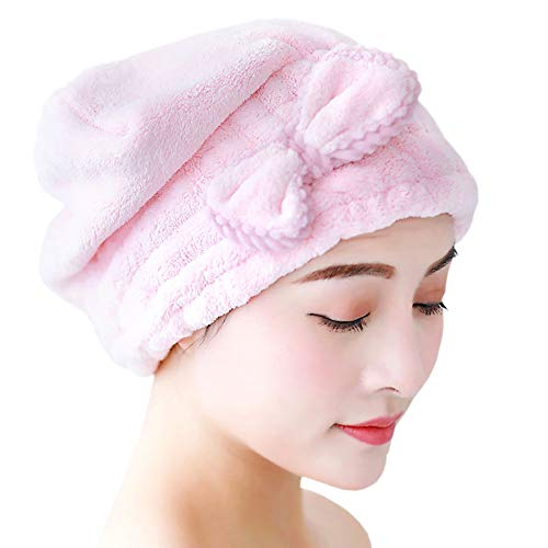 [WALKPRO]ドライキャップ ヘアタオル タオルキャップ 髪を乾かすタオル ヘアドライタオル ヘアターバン 大人も子供も使える シャワーキャップ ヘアキャップ 風邪を防ぐ 吸水性 速乾 髪 ふわもこ お風呂上がり 大人 子供用 ふわもこ バス用品