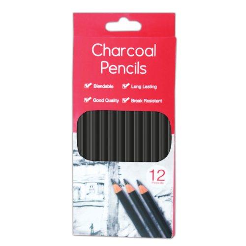 Tallon - Set composto da 12 matite a carboncino
