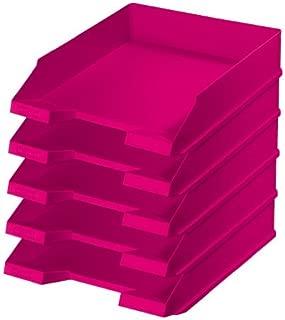 lampone traslucido//rosso Portariviste//plastica stelo raccoglitore ad anelli//colore