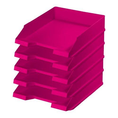 5x Ablagekorb / Briefkorb / Briefablage / Farbe: pink